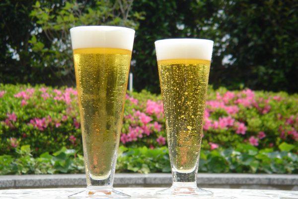 お仕事のあとはビールで乾杯